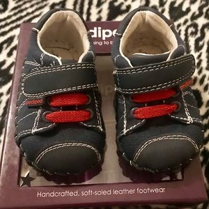 Pediped Baby Boys Soft Sole Shoes Size 0-6 Months